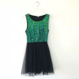 H&am Divided Sequin Tutu Dress Size 8
